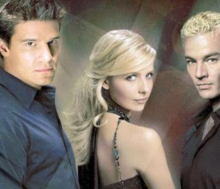 Angel, Buffy e Spike in una fanart di MarvelGirl