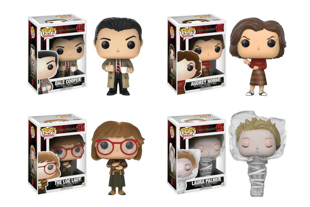 I Funko Pop! Vinyl dell'agent Cooper, Audrey, Log Lady e Laura Palmer