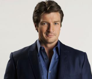 L'attore Nathan Fillion di Castle