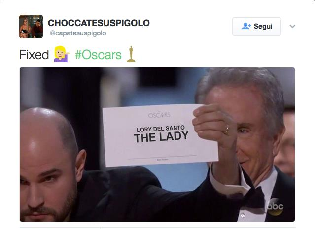 Oscar 2017: Caos La La Land-Moonlight, in rete impazza la parodia