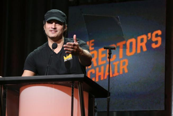 Robert Rodriguez parla sul palco