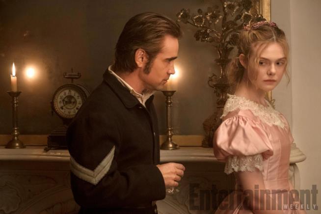 Colin Farrell ed Elle Fanning ne L'Inganno