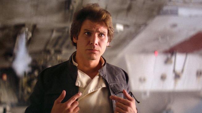 Harrison Ford nei panni di Han Solo