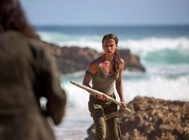 Una scena di Lara Croft nel nuovo Tomb Raider