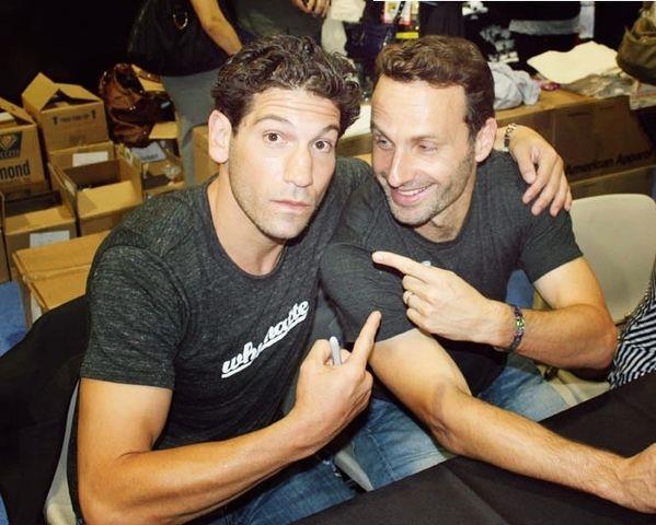 Shane e Rick lontano dalle telecamere di The Walking Dead