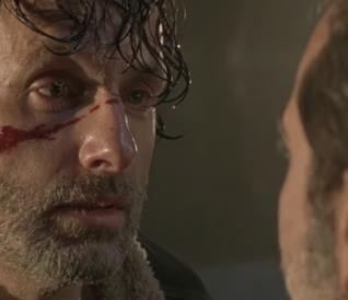 Rick Grimes al cospetto di Negan