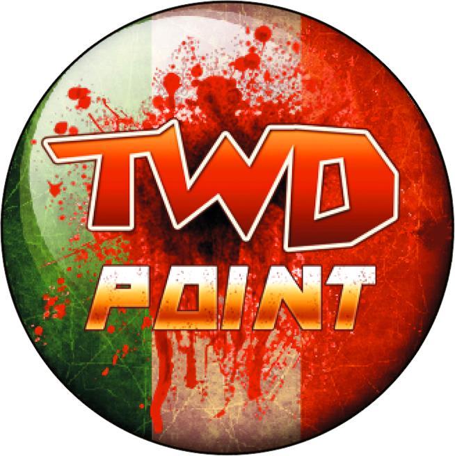 Il logo dei The Walking Dead Point, che identifica i negozi specializzati che fanno parte della rete di distribuzione Ms Edizioni