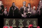 La confezione base del gioco di miniature The Walking Dead: All Out War