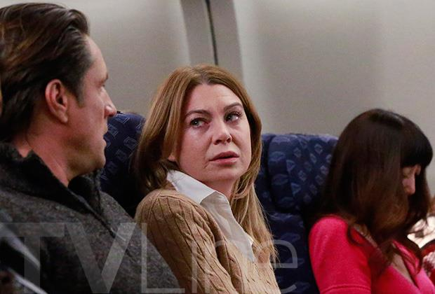 Meredith e Nathan, scena dell'aereo