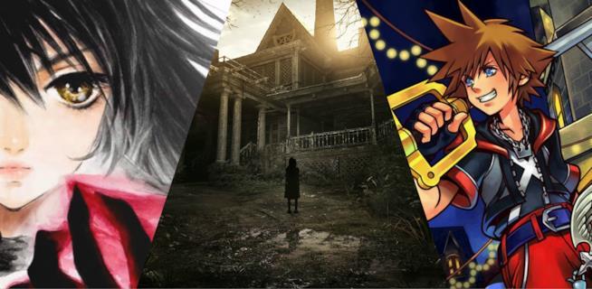 I protagonisti di Tales of Berseria, Resident Evil 7 e il primo Kingdom Hearts