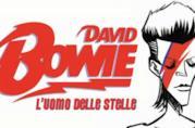 """Immagine di copertina del fumetto """"David Bowie - L'uomo delle Stelle""""."""