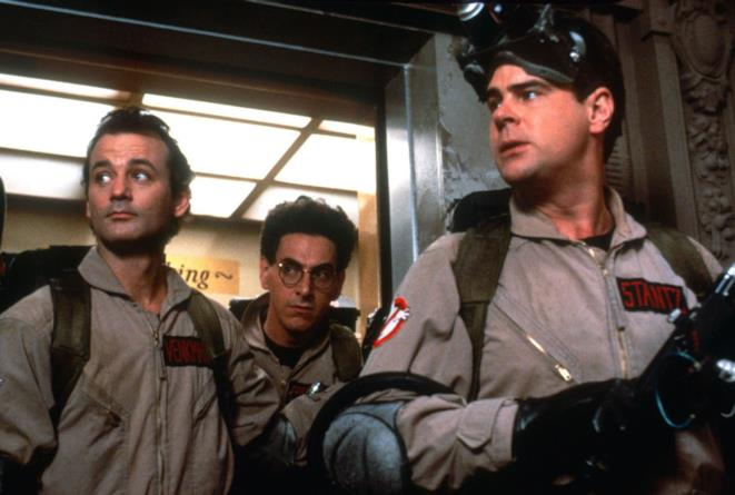 Dan Aykroyd, Bill Murray e Harold Ramis in Ghostbusters di Ivan Reitman