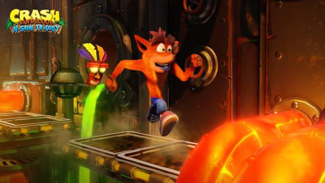 Crash in azione in Crash Bandicoot