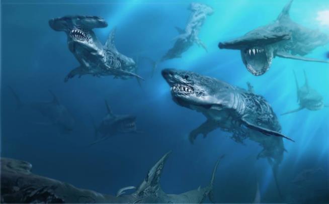 Pirati dei Caraibi: La vendetta di Salazar - gli squali fantasma sono pronti ad attaccare nel nuovo concept art