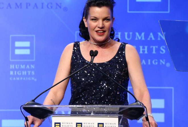 Pauley Perrette sorridente agli Human Rights Campaign 2016