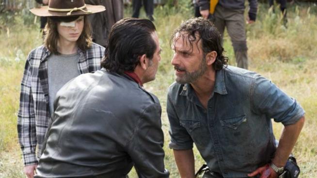 Un'immagine del season finale di The Walking Dead 7