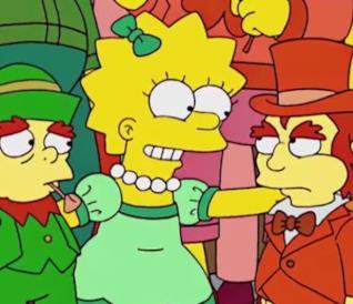 Lisa separa due folletti irlandesi da una rissa