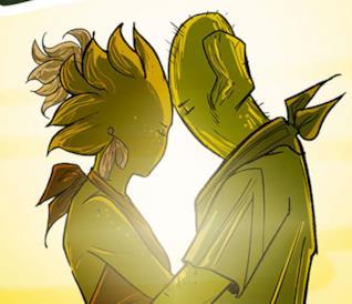 I catus Nora e Carl stretti in un abbraccio