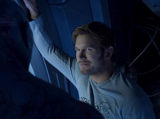 Chris Pratt in una scena de I Guardiani della Galassia 2
