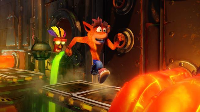 Crash in azione in un livello di Crash Bandicoot N.Sane Trilogy