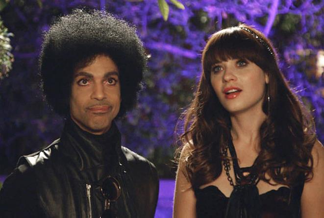 Prince e Zooey Deschanel in New Girl