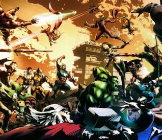 Tutti i personaggi di Marvel vs. Capcom 3 in azione sulla cover del gioco