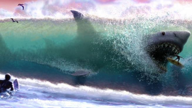 Locandina di Meg, film sullo squalo bianco gigante