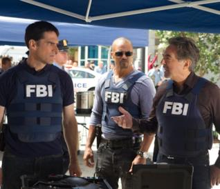 Hotch, Rossi e Morgan sul set di Criminal Minds