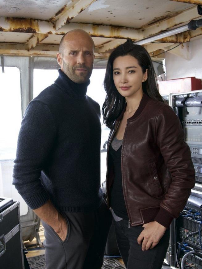 L'attore Jason Statham in Meg