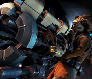 Rocket Raccoon in uno screen ufficiale di Guardian of the Galaxy: The Telltale Series