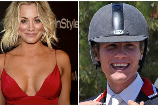 Primo piano di Kaley Cuoco e Karl Cook