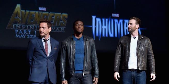 Iron Man, Black Panther e Captain America