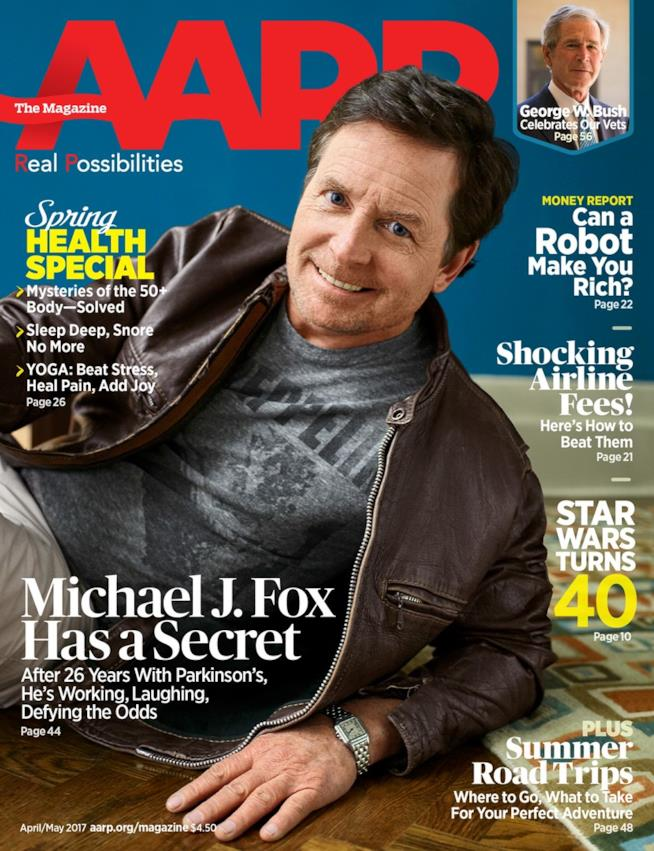 Michael J. Fox sulla copertina di AARP