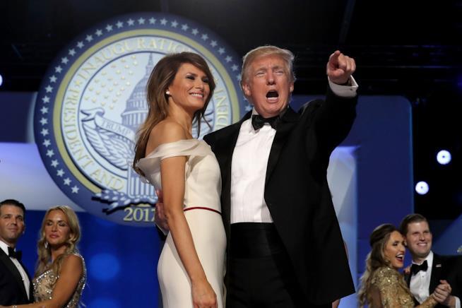 Donald Trump con sua moglie Melania