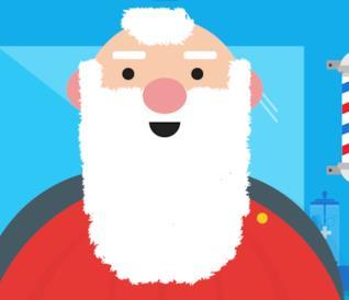 Babbo Natale dal barbiere