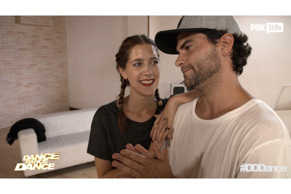 Clara e Diego alle prese con le prove