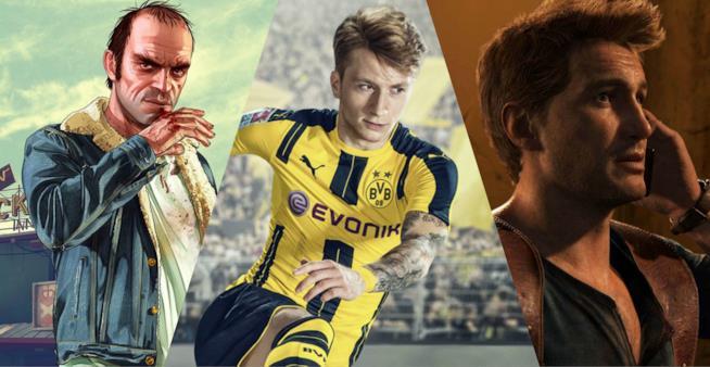 I protagonisti dei videogiochi più venduti in Italia nel 2016