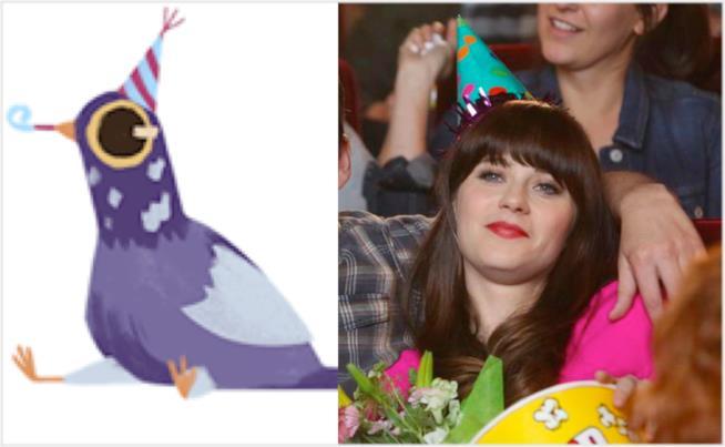 Il piccione viola e New Girl