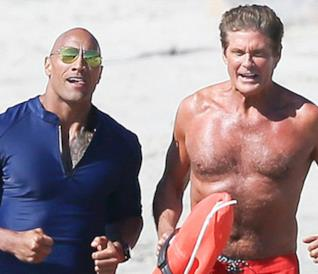 Baywatch, David Hasselhoff e Dwayne The Rock Johnson