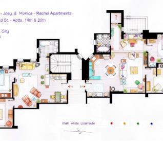 La gallery con le planimetrie degli appartamenti delle serie TV