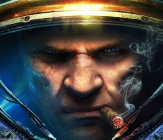 Il ritratto di un Terran sulla cover del secondo capitolo di StarCraft