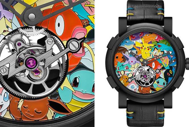 Particolare dell'orologio Pokémon di RJ-Romain Jerome