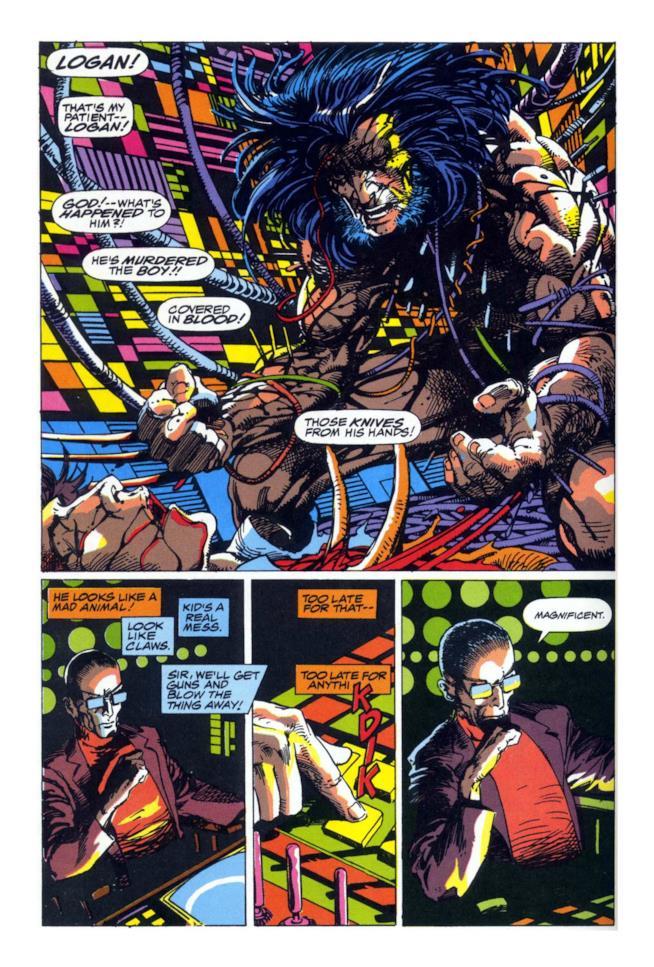 La furia bestiale di Logan in una tavola di Arma X