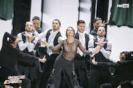 L'esibizione di Claudia Gerini
