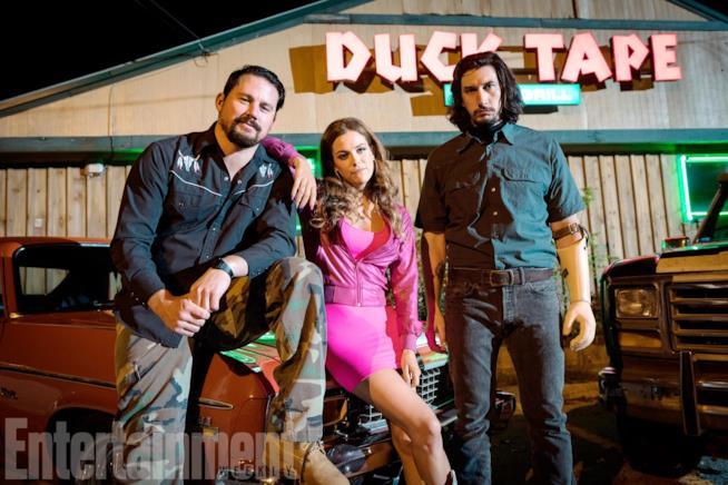 Clyde, Mellie e Jimmy Logan in una scena di Logan Lucky