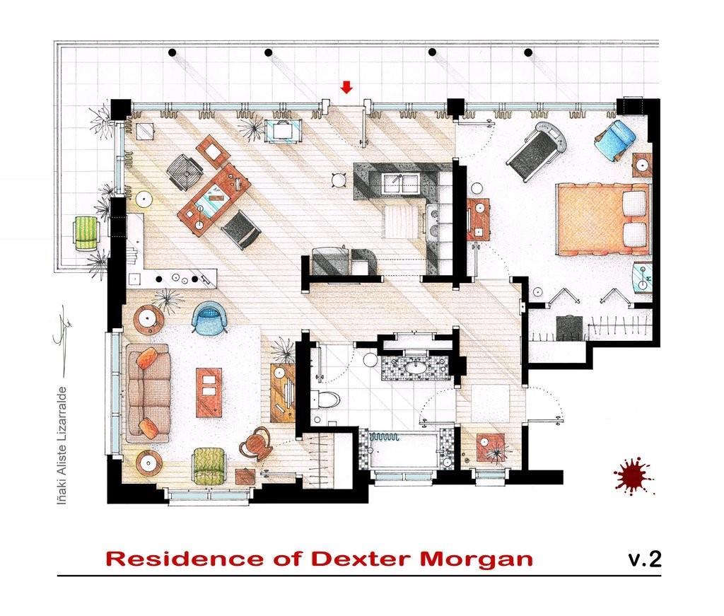 Quello che potrebbe sembrare un semplice appartamento è invece il nascondiglio preferito del sanguinario Dexter