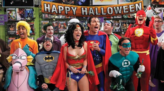 Il cast di Big Bang Theory in maschera per Halloween