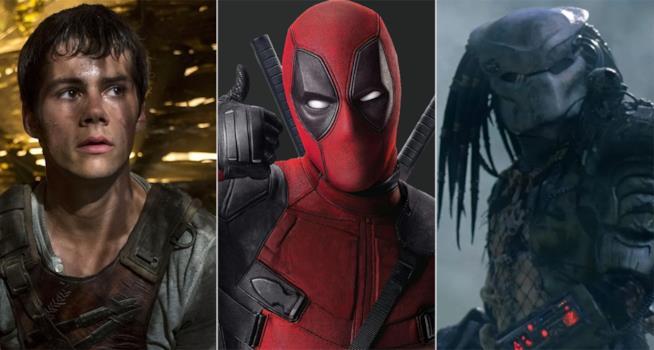 Maze Runner 3, Deadpool 2, The Predator