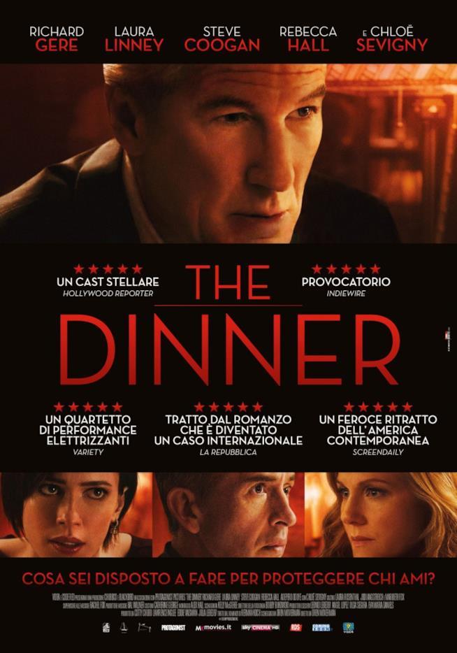 La locandina italiana del film The Dinner di Oren Moverman