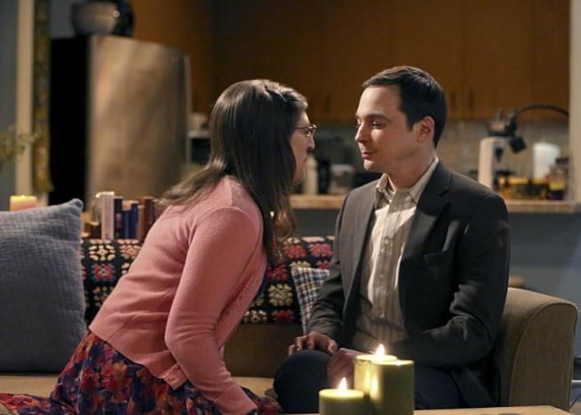 Sheldon e Amy stanno per baciarsi